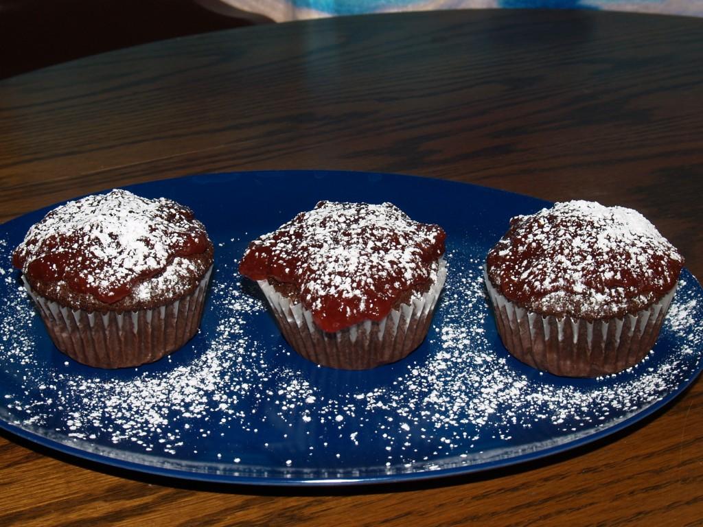Cherry Jam Chocolate Cupcakes from Kelli's Kitchen