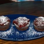Cherry Jam Chocolate Cupcakes