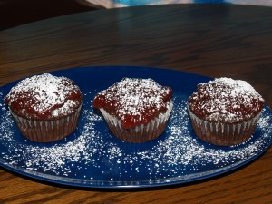 Cherry Jam Chocolate Cupcakes from Kelli's Kitchen