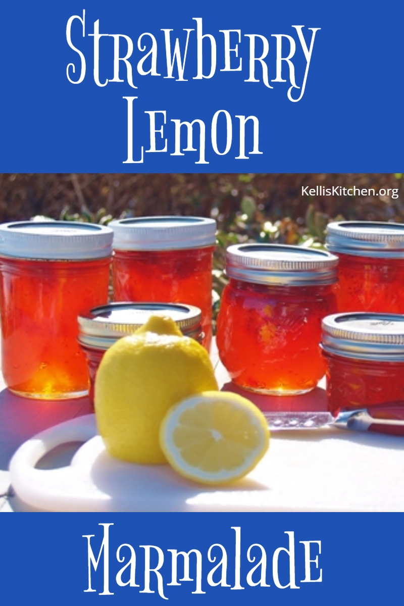 Strawberry Lemon Marmalade via @KitchenKelli