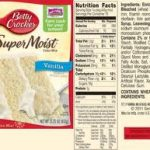 Betty Crocker Cake Mix Change