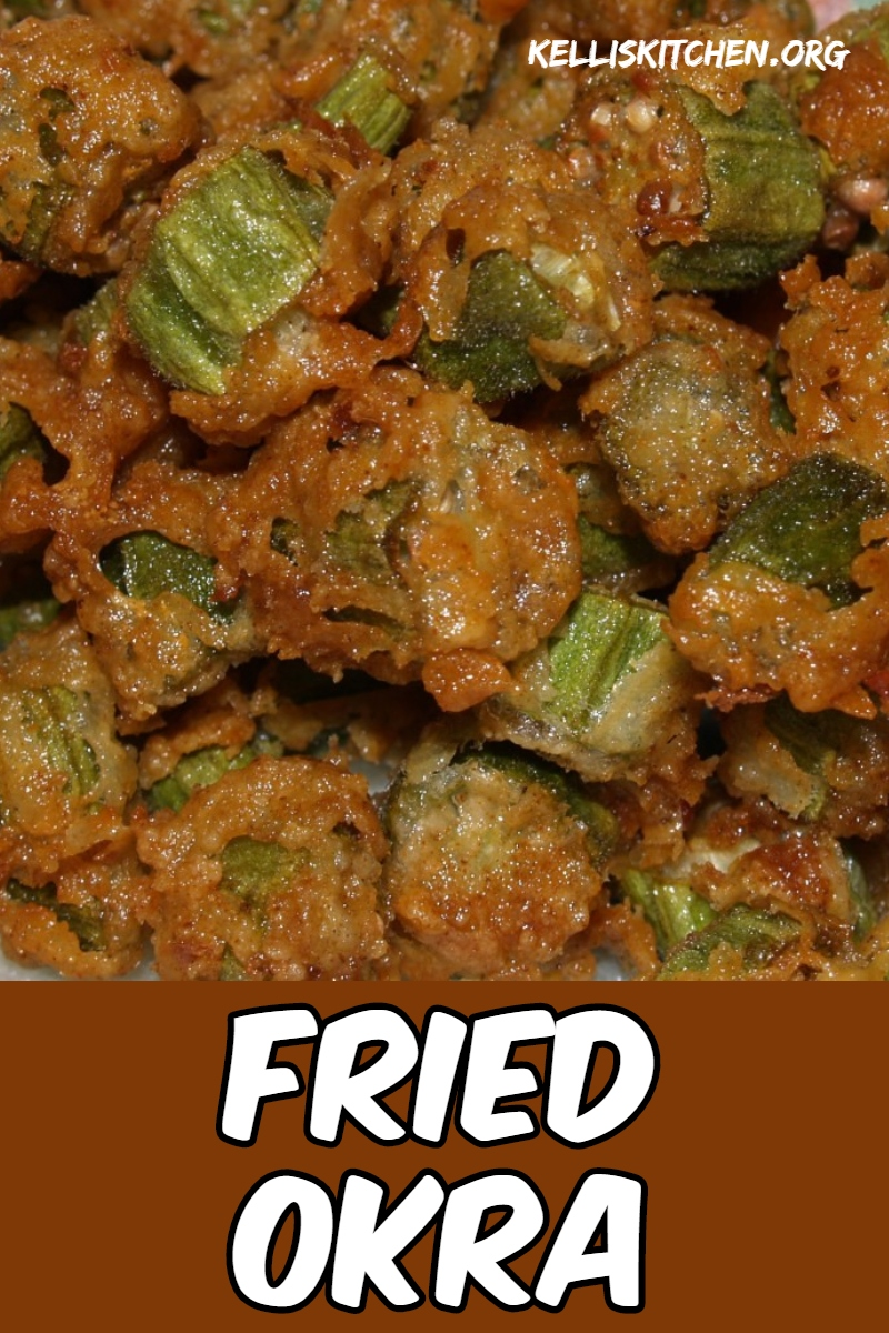 Fried Okra. It's one of the tastiest vegetables I have ever eaten and this is the way that you too can make it at home instead of eating out. via @KitchenKelli