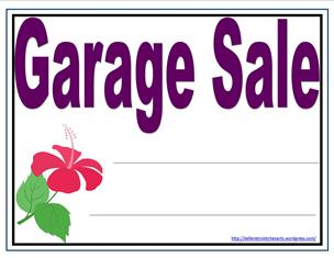 graphic relating to Printable Yard Sale Signs named Its Garage Sale Year! - Kellis Kitchen area