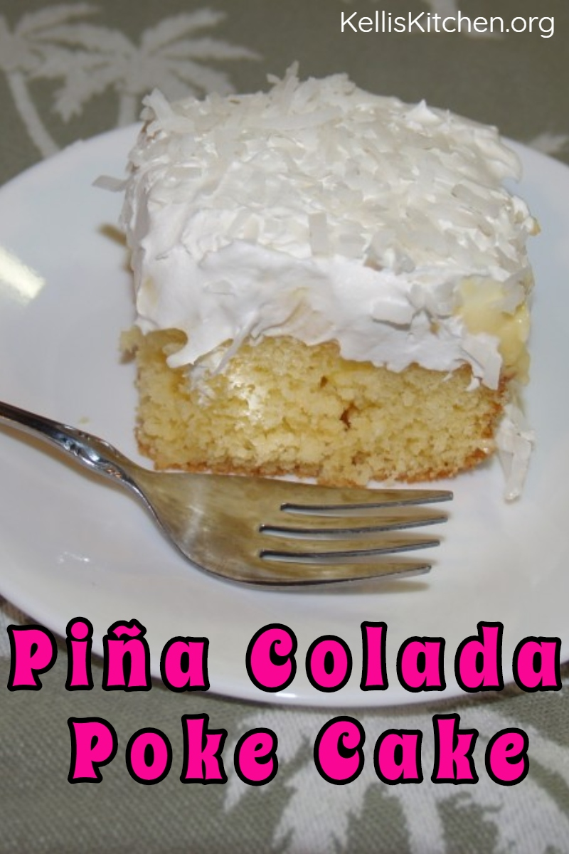 PINA COLADA POKE CAKE via @KitchenKelli