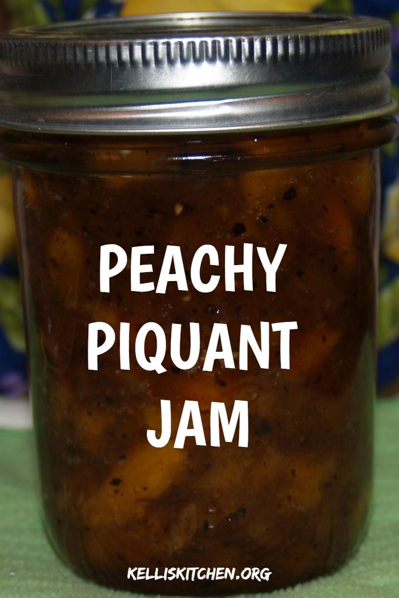PEACHY PIQUANT JAM via @KitchenKelli