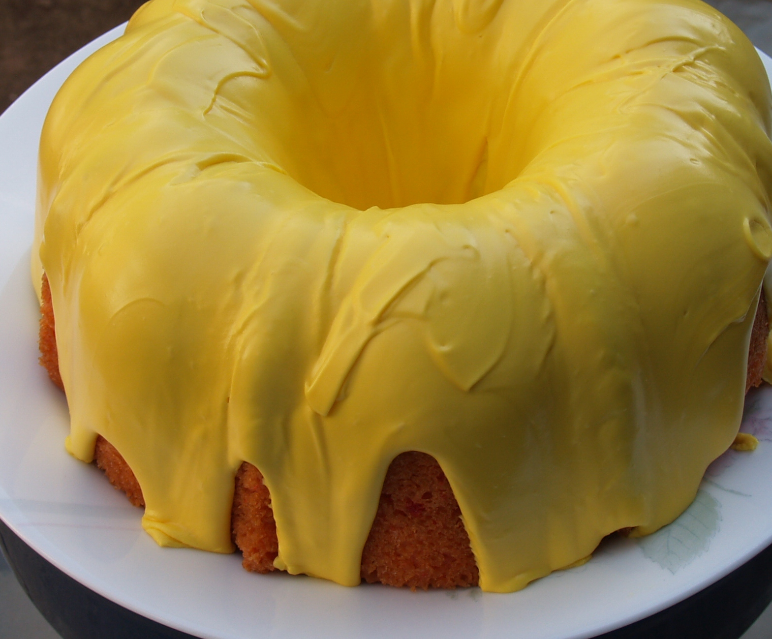 Strawberry Bundt Cake with Lemon Icing from Kelli's Kitchen
