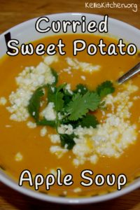 Curried Sweet Potato-Apple Soup