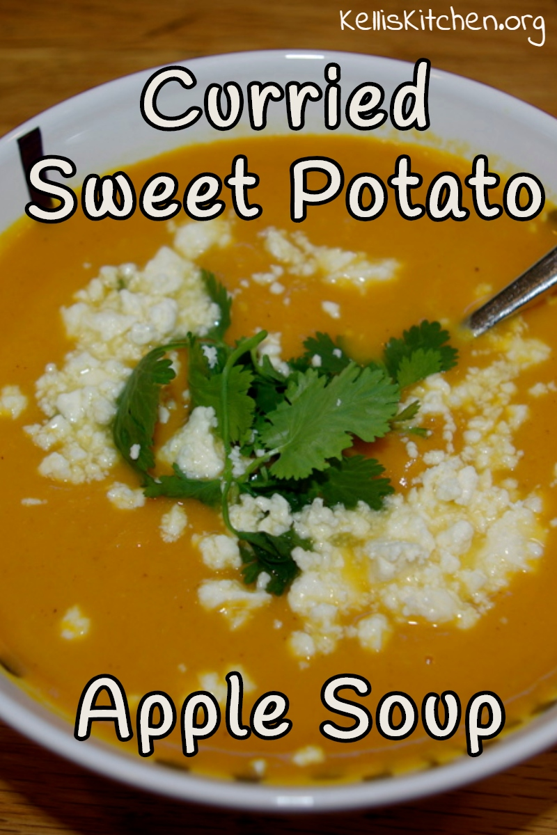 Curried Sweet Potato-Apple Soup via @KitchenKelli