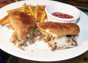 Slow Cooker Lower Calorie Italian Beef Sandwiches