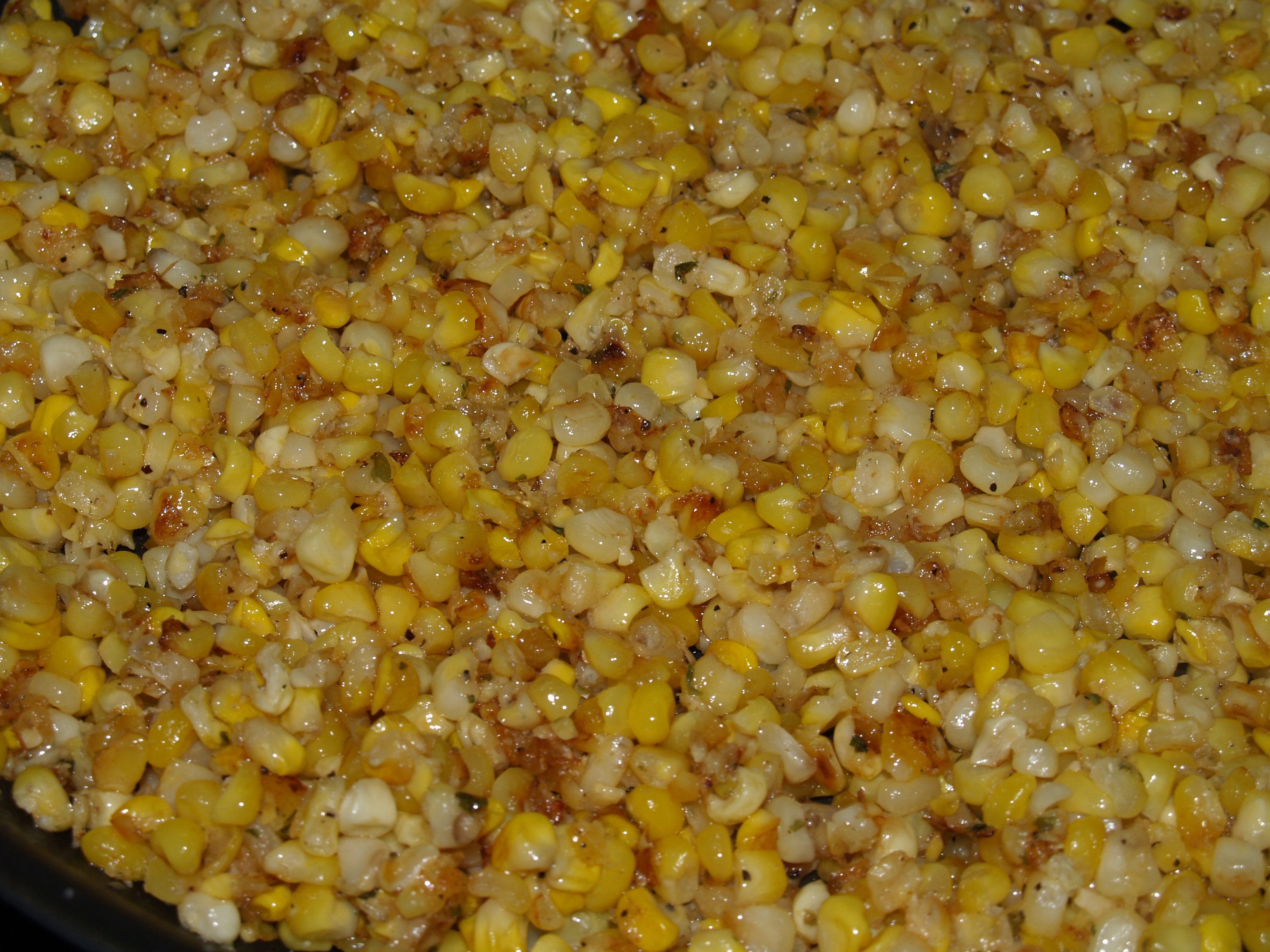 Skillet Corn and Lima Beans