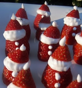Strawberry Santas/Kelli's Kitchen
