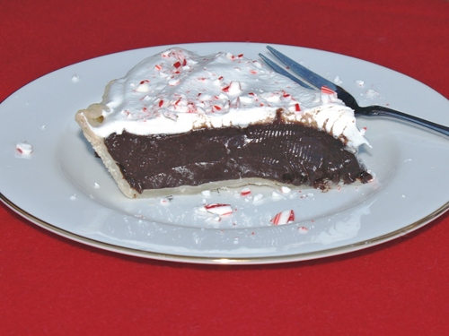 Dark Chocolate Peppermint Pie