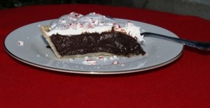 Dark Chocolate Pie with a Holiday Twist