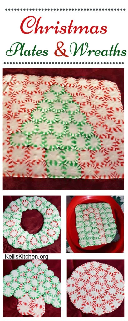 CHRISTMAS CANDY PLATES AND WREATHS
