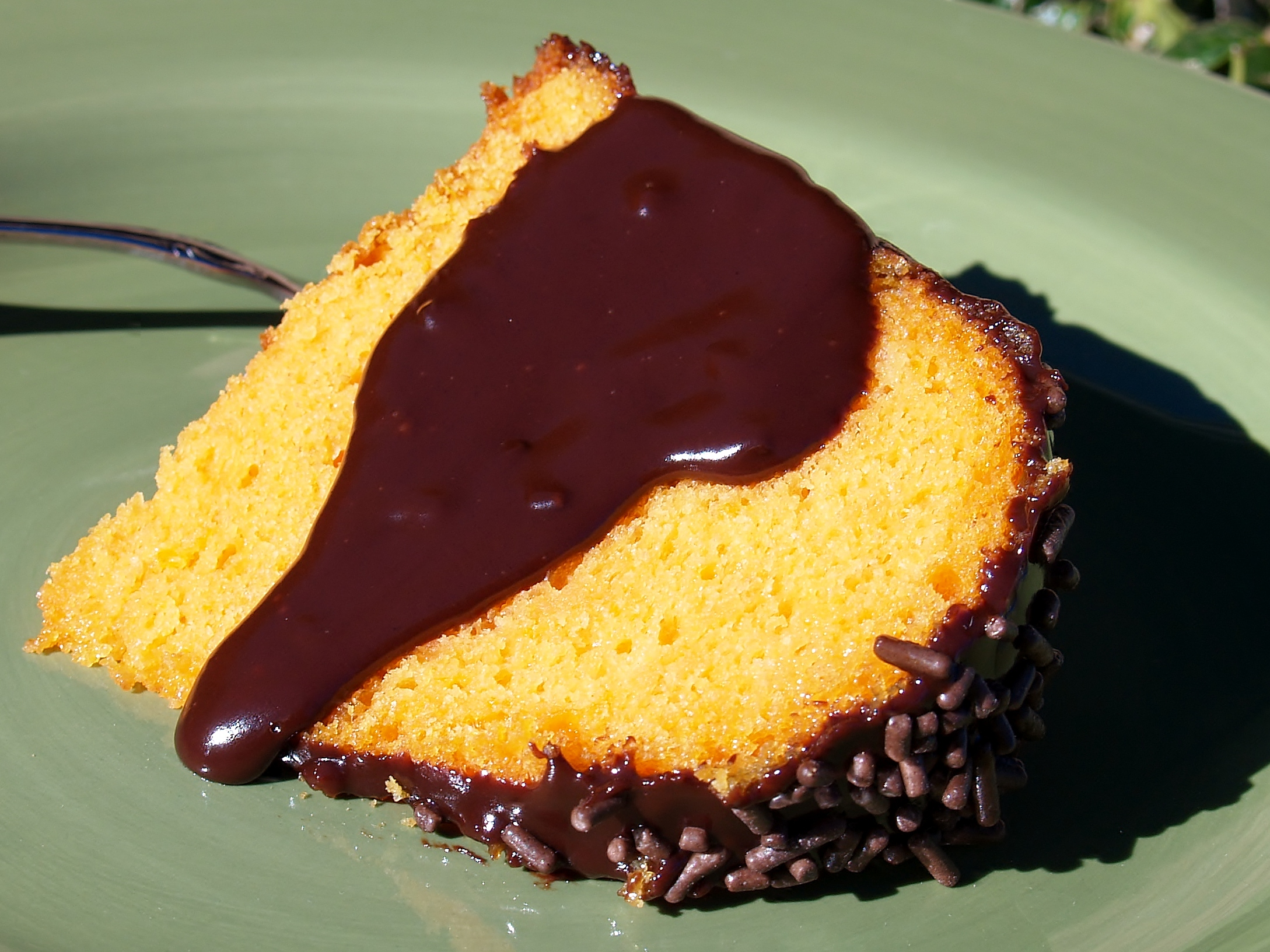 Orange Cake w/ Dark Chocolate Ganache