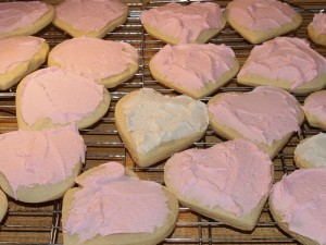 HEART SHAPED SUGAR COOKIES FOR MY VALENTINE