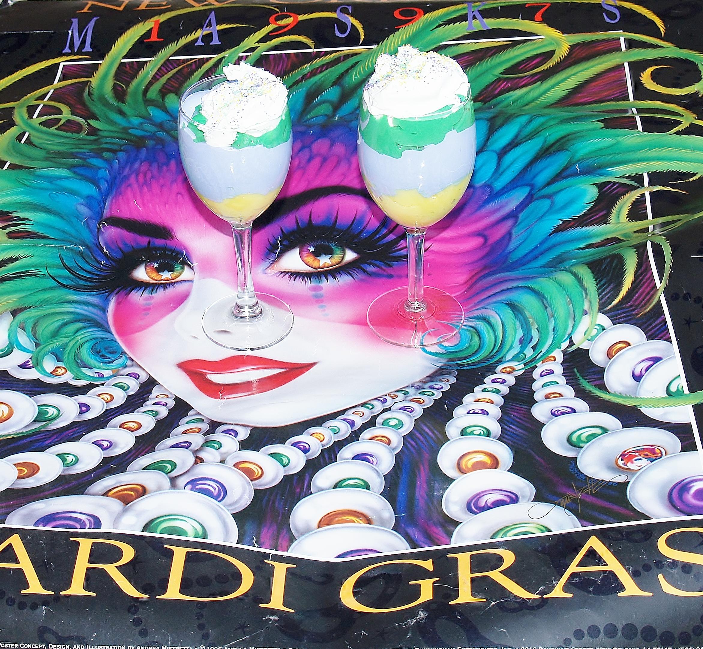 Mardi Gras Parfait from Kelli's Kitchen