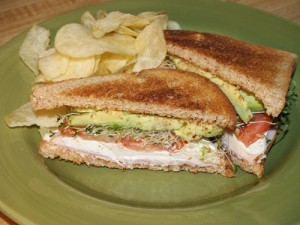 Avocado, Cream Cheese, and Tomato Toasty