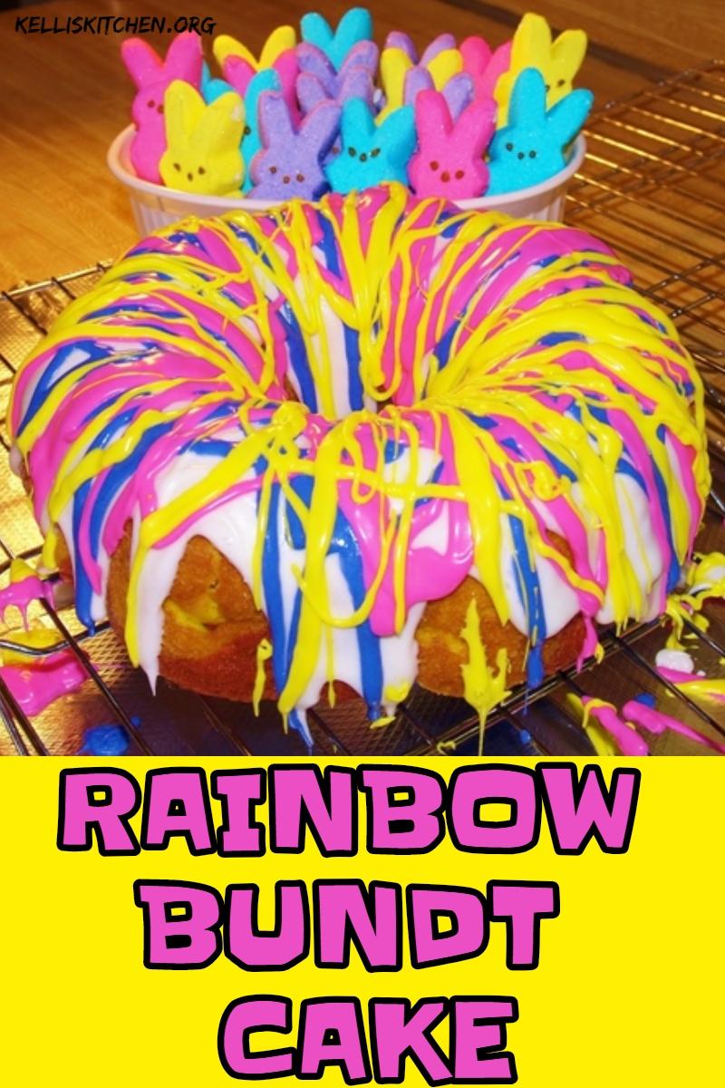 RAINBOW BUNDT CAKE via @KitchenKelli