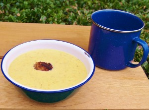 Beer Cheese Soup with Meatballs
