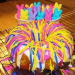 Rainbow Bundt Cake plus bonus Peeps!