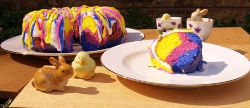 Rainbow Bundt Cake from Kelli's Kitchen