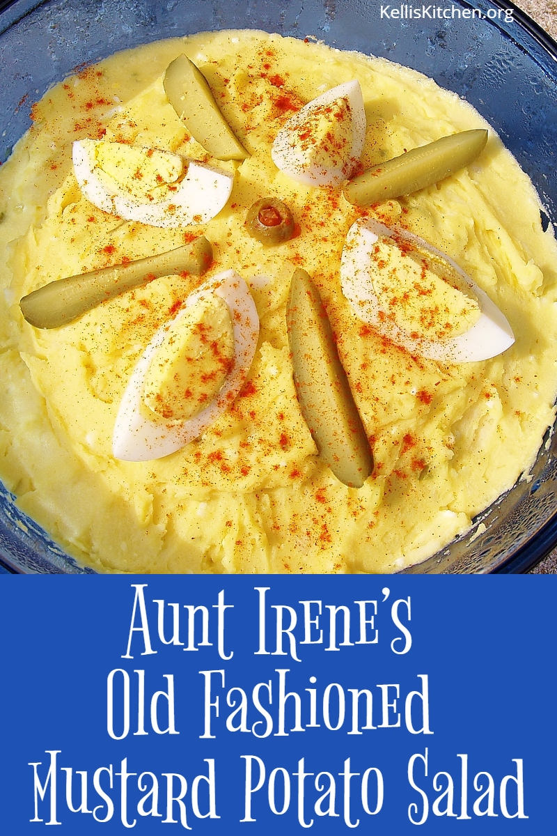 Aunt Irene's Old Fashioned Mustard Potato Salad via @KitchenKelli
