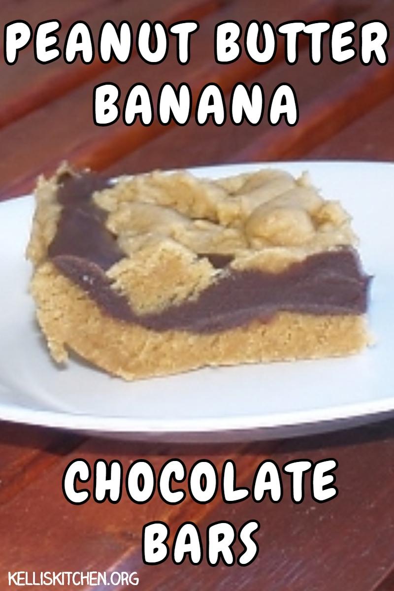 PEANUT BUTTER BANANA CHOCOLATE BARS via @KitchenKelli