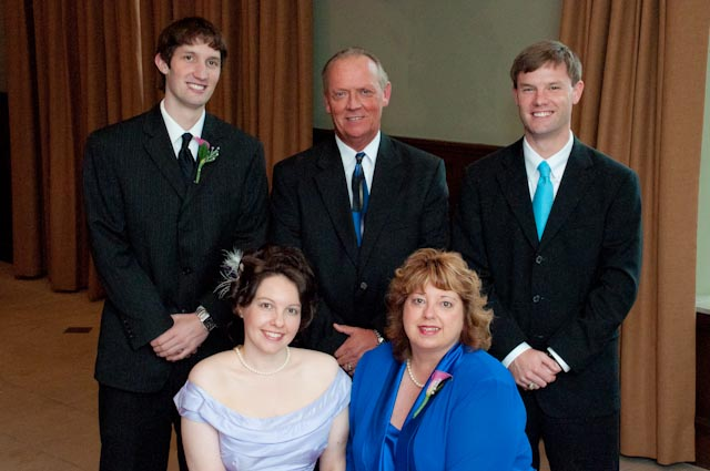Top Girl's Wedding - our family