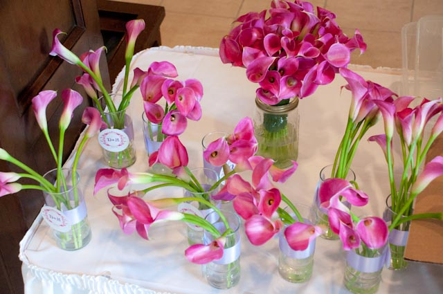 Top Girl's Wedding - table of flowers