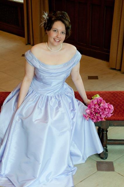 Top Girl's Wedding - TG in her dress