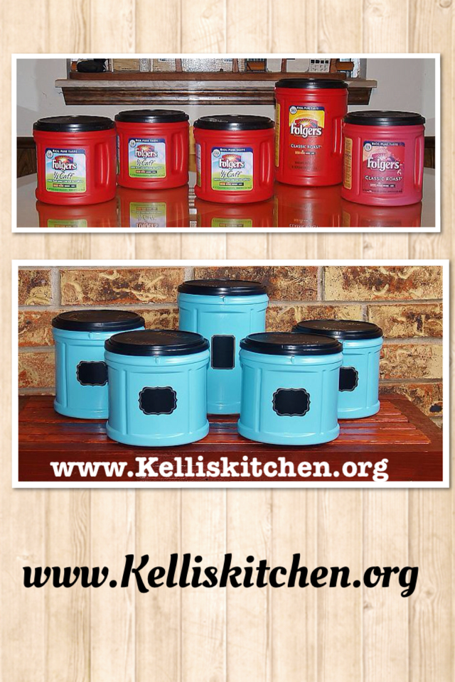 Cheap Organization with Coffee and Krylon from Kelli's Kitchen via @KitchenKelli