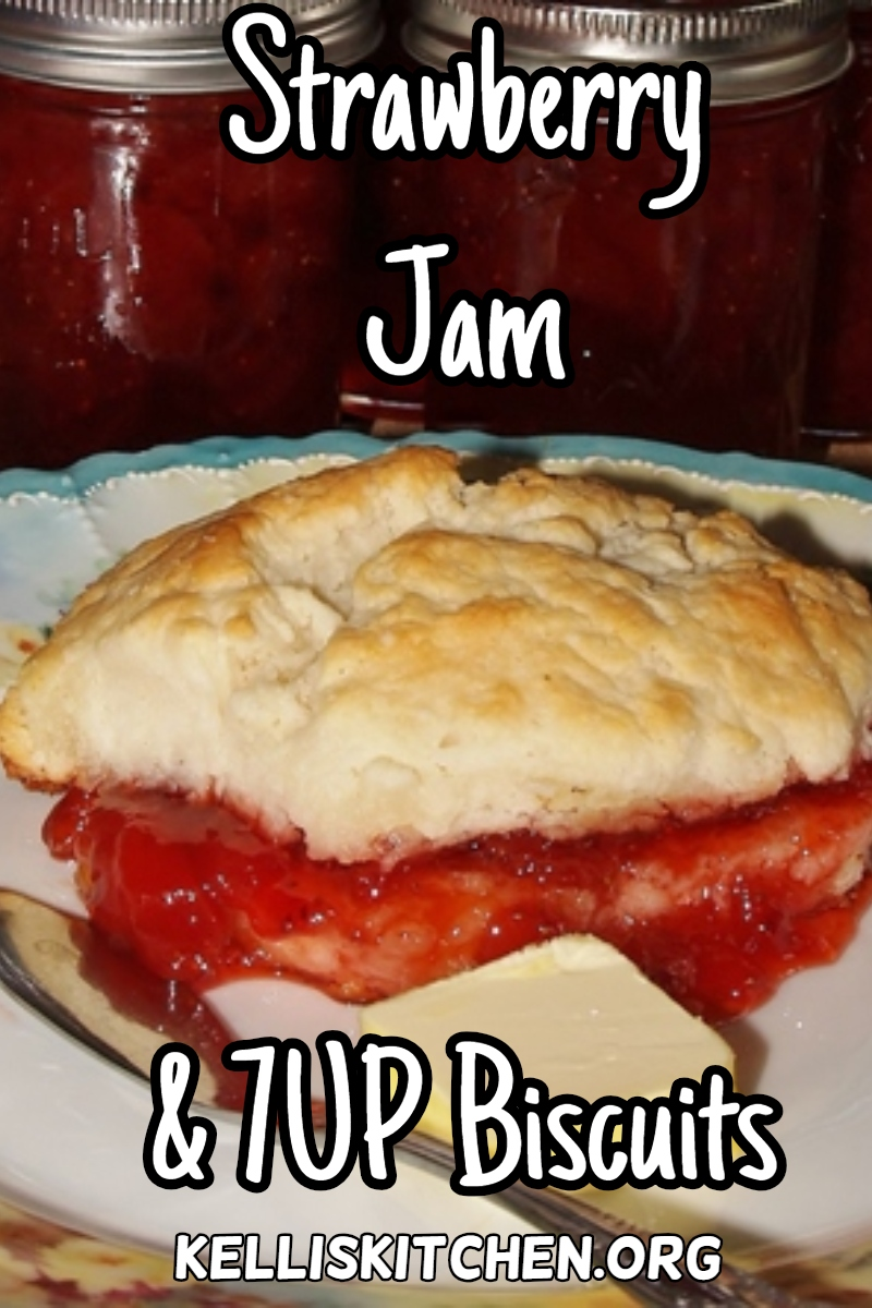 Strawberry Jam and 7UP Biscuits via @KitchenKelli