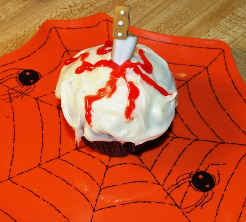 Oohh....Scary Blood Cupcake