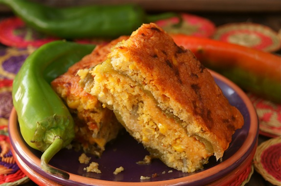 roasted hatch chile cornbread casserole gluten free recipe cooking on ...