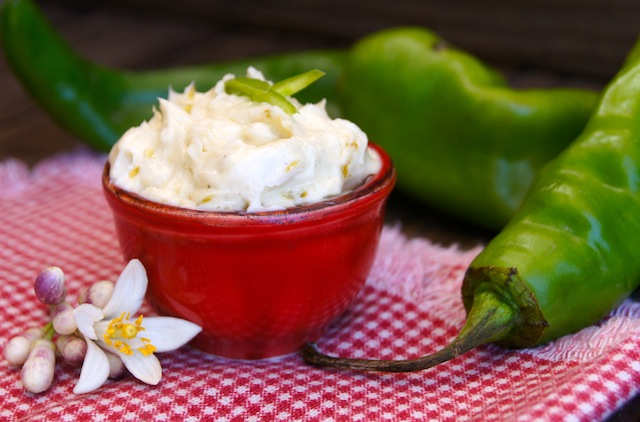 Lemon Blossoms and Hatch Chile-Agave Compound Butter Recipe