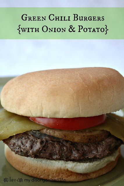 Green Chili Burgers {with onion & potato}