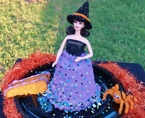 Easy Pillsbury Funfetti Halloween Doll Cake from Kelli's Kitchen