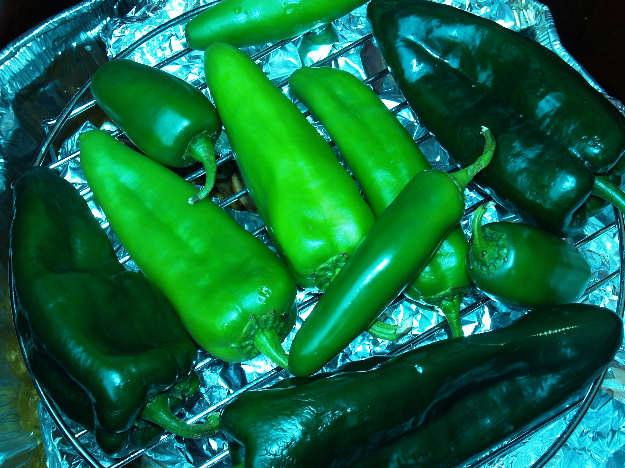Hot Peppers In the Smoker