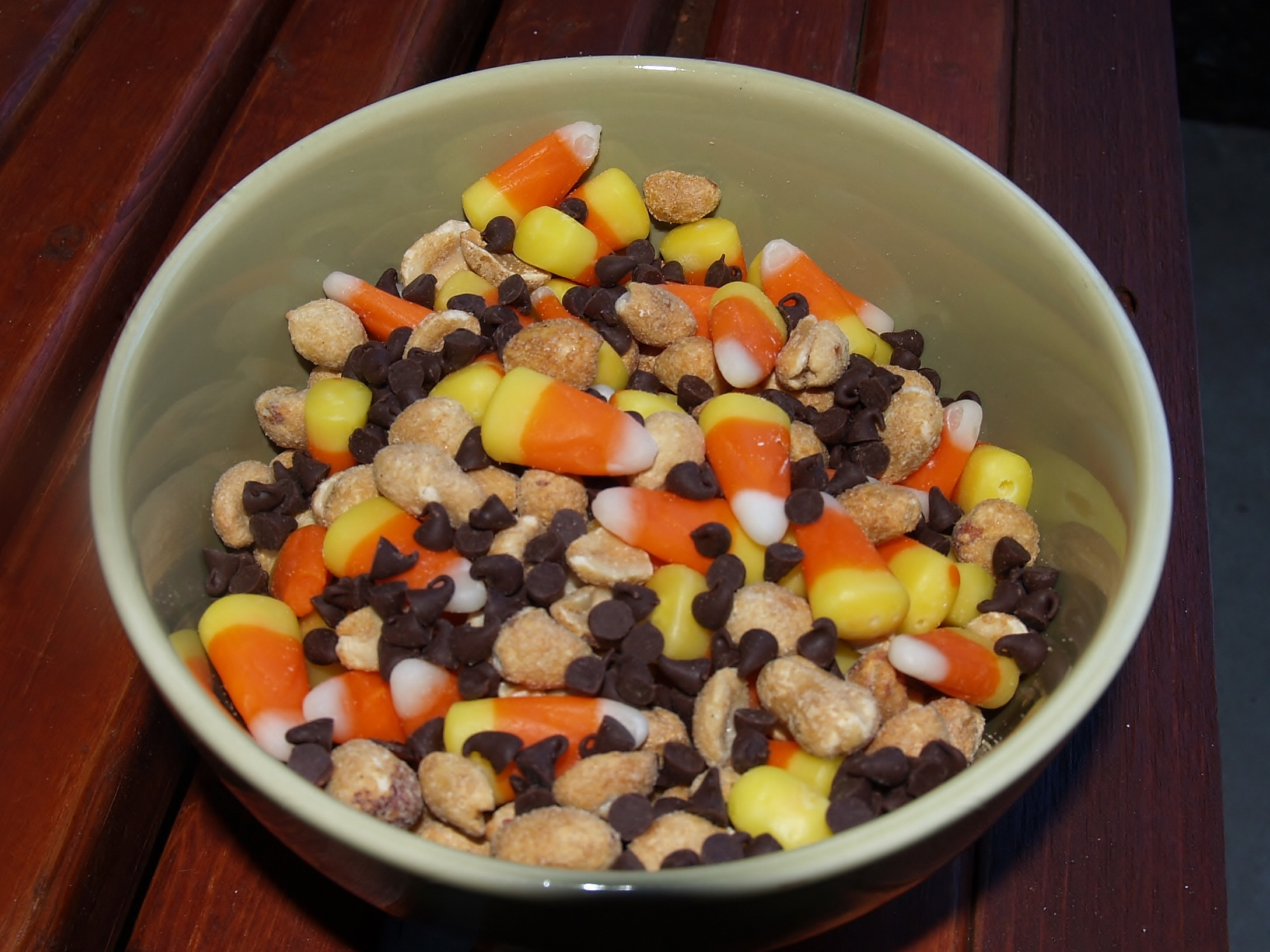 Chocolate Covered Pay Day Candy Bar Mix from Kelli's Kitchen