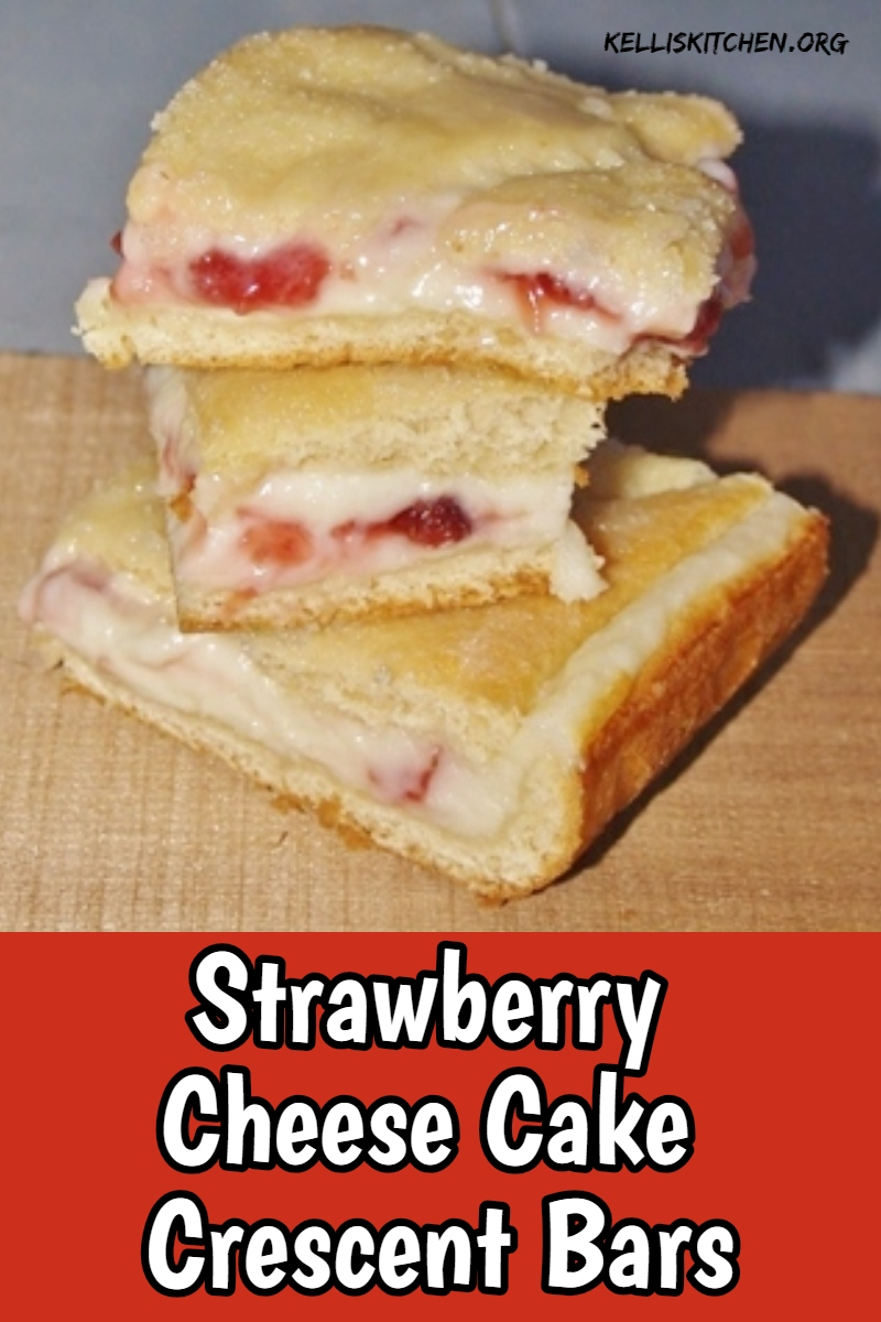 Strawberry Cheese Cake Crescent Bars