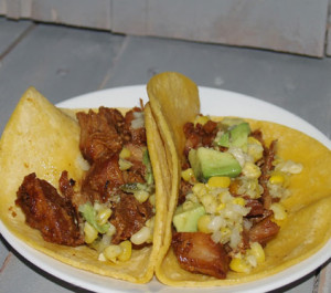 Carnitas with Avocado Corn Salsa!