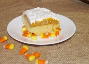 Pumpkin Pudding Poke Cake from Kelli's Kitchen
