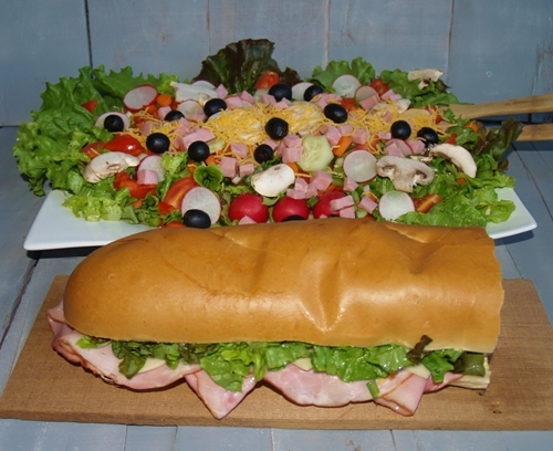 Festivus - Big Salad and Big Sandwich