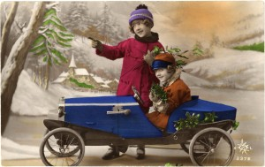 Old-Christmas-Photo-Card-PedalCar-GraphicsFairy