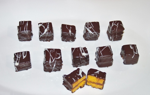 Orange Chocolate Petit Fours/Kelli's Kitchen