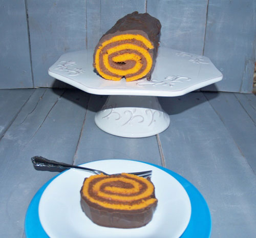 Orange Dark Chocolate Cake Roll/Kelli's Kitchen