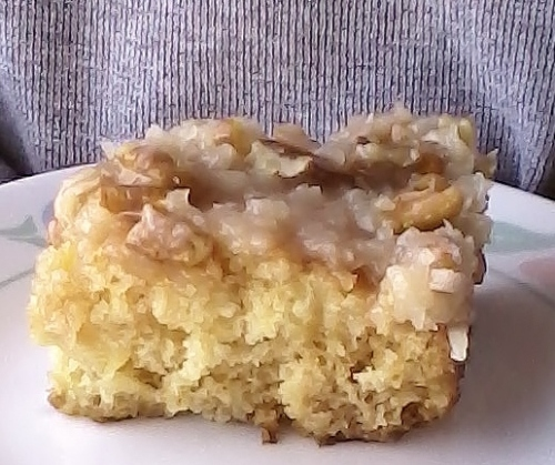 Pineapple Cake with Coconut Pecan Icing – Kelli's Kitchen