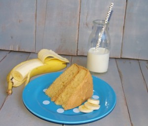 Banana Cake with Peanut Butter Icing