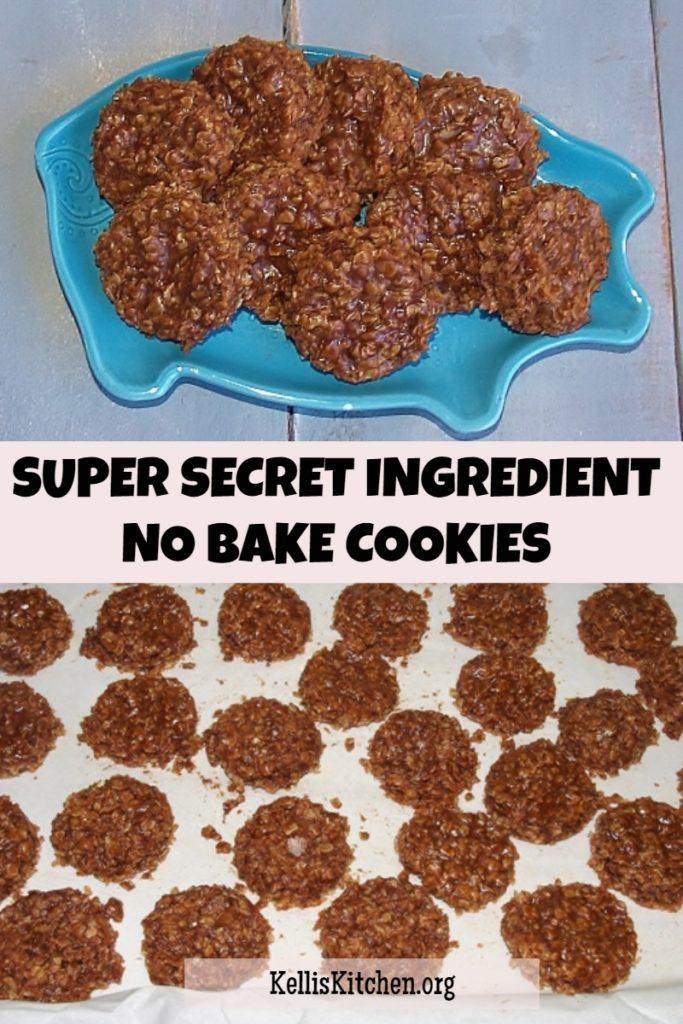 Super Secret Ingredient No Bake Cookies